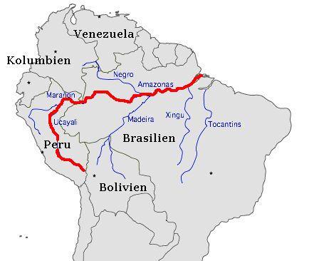Es gibt verschiedene quellflüsse, z.b.: huallaga und ucayalli, aber