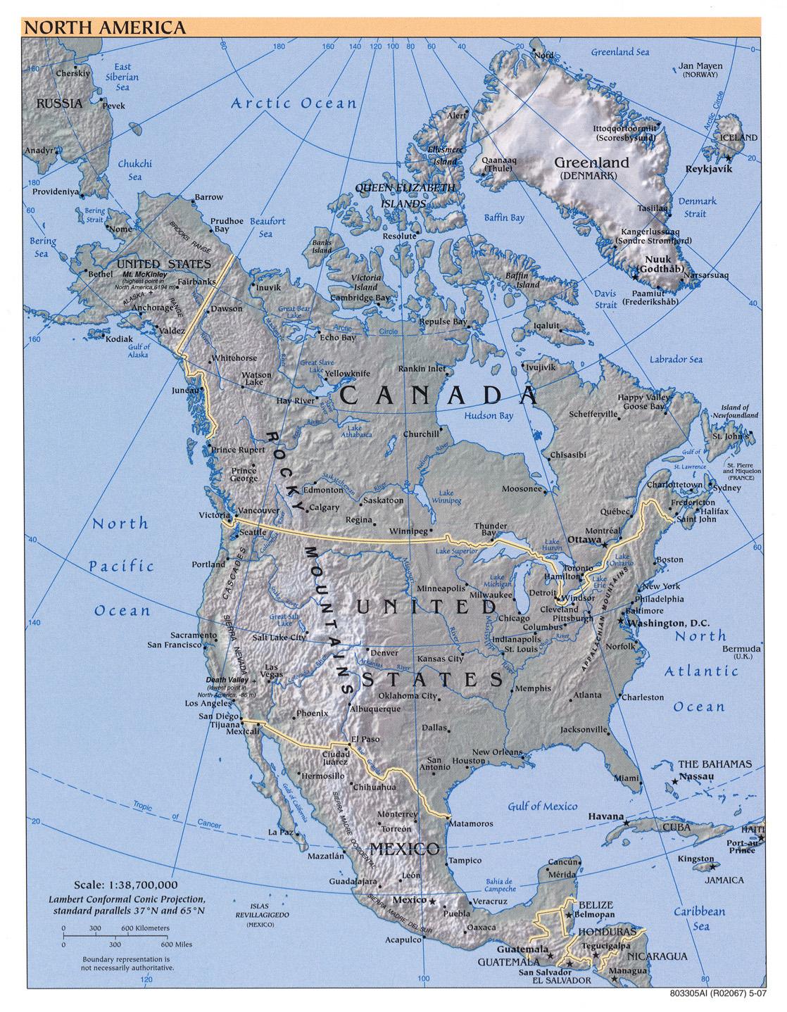 Stumme Karte Nordamerika.Geolinde Usa Naturraum Naturgefahren